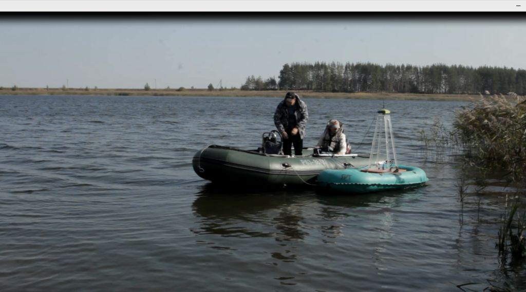 Лодка с георадаром